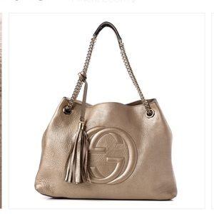 Rose gold Gucci bag